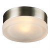PLC Lighting PLC 1 Light Wall Light Metz Collection , Satin Nickel