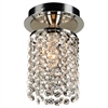 PLC Lighting PLC 1 Light Crystal Ceiling Light Rigga Collection , Polished Chrome