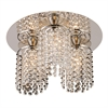 PLC Lighting PLC 3 Light Crystal Ceiling Light Rigga Collection , Polished Chrome