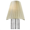 PLC Lighting PLC 1 Light Sconce Angelina Collection , Beige