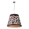 PLC Lighting PLC 1 Light Pendant Infinity Collection /PC, Polished Chrome
