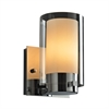 PLC 1 Light Wall Sconce Candy Collection , Polished Chrome