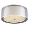 PLC 3 Light Ceiling Light Merritt Collection , Polished Chrome