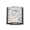 PLC Lighting PLC 2 Light Wall Sconce Nest Collection , Polished Chrome