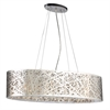 PLC 6 Light Pendant Nest Colllection , Polished Chrome