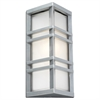 PLC 1 Light Outdoor Fixture Trevino Collection , Silver