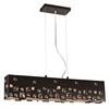 PLC Lighting PLC 5 Light Pendant Twilight Collection , Black