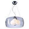 PLC Lighting PLC 3 Light Pendant Lumisphere Collection , Polished Chrome