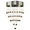 PLC 2 Light Sconce Beverly Collection , Polished Chrome