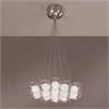 PLC 19 Light Chandelier Hydrogen Collection , Satin Nickel