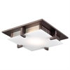 PLC Lighting PLC 1 Light Ceiling Light Polipo Collection , Oil Rubbed Bronze