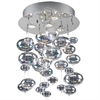 PLC Lighting PLC 4 Light Ceiling Light Bubbles Collection , Polished Chrome