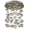 PLC 6 Light Chandelier Bubbles Collection , Polished Chrome