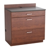 Hospitality Base Cabinet, Three Drawer Rustic Slate/Mahogany