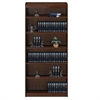 "Contemporary 84""H wood veneer bookcase, Vintage Walnut"