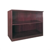 "Corsica Series 2-Shelf Bookcase - 36"" Width x 16"" Depth x 29.5"" Height - Veneer, Wood - Mahogany"