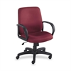 "Poise Collection Executive Mid-Back Chair - Polyester Burgundy Seat - Back - Frame - 27.0"" x 27.0"" x 42.3"" Overall Dimension"