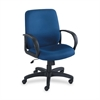 "Poise Collection Executive Mid-Back Chair - Polyester Blue Seat - Back - Black Frame - 27.0"" x 27.0"" x 42.3"" Overall Dimension"