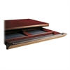 "Corsica Center Drawer for Desk and Credenza Shell - 30"" Width x 18"" Depth x 2"" Height - Beveled Edge - Leather, Veneer, Wood - Cherry"