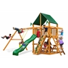 Chateau Swing Set w/ Amber Posts and and Sunbrella Canvas Forest Green Canopy