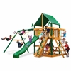 Gorilla Playsets Chateau Swing Set w/ Timber Shield and Deluxe Green Vinyl Canopy
