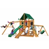 Frontier Swing Set w/ Amber Posts and and Sunbrella Canvas Forest Green Canopy