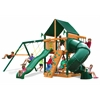 Gorilla Playsets Mountaineer Swing Set w/ Timber Shield and Sunbrella Canvas Forest Green Canopy