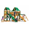 Pioneer Peak Swing Set w/ Timber Shield and Deluxe Green Vinyl Canopy