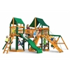 Gorilla Playsets Pioneer Peak Swing Set w/ Timber Shield and Sunbrella Canvas Forest Green Canopy