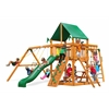 Navigator Swing Set w/ Amber Posts and Deluxe Green Vinyl Canopy