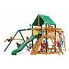 Gorilla Playsets Navigator Swing Set w/ Timber Shield and Deluxe Green Vinyl Canopy