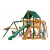 Gorilla Playsets Navigator Swing Set w/ Timber Shield and Sunbrella Canvas Forest Green Canopy