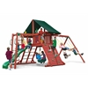 Gorilla Playsets Sun Climber II Swing Set w/ Sunbrella Canvas Forest Green