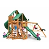 Gorilla Playsets Great Skye I Swing Set w/ Amber Posts and Deluxe Green Vinyl Canopy