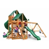 Gorilla Playsets Great Skye I Swing Set w/ Amber Posts and and Sunbrella Canvas Forest Green Canopy
