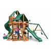 Great Skye I Swing Set w/ Timber Shield and Sunbrella Canvas Forest Green Canopy