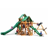 Great Skye II Swing Set w/ Amber Posts and Deluxe Green Vinyl Canopy