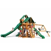 Great Skye II Swing Set w/ Amber Posts and and Sunbrella Canvas Forest Green Canopy