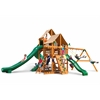 Gorilla Playsets Great Skye II Swing Set w/ Amber Posts and and Sunbrella Weston Ginger Canopy