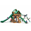 Gorilla Playsets Great Skye II Swing Set w/ Timber Shield and Deluxe Green Vinyl Canopy
