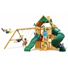 Gorilla Playsets Mountaineer Clubhouse Swing Set w/ Amber Posts
