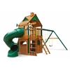 Gorilla Playsets Mountaineer Clubhouse Swing Set w/ Timber Shield