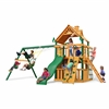 Gorilla Playsets Chateau Clubhouse Swing Set w/ Amber Posts