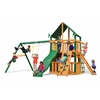 Chateau Clubhouse Swing Set w/ Timber Shield and Sunbrella Canvas Forest Green Canopy
