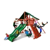 Gorilla Playsets Sun Climber Extreme Swing Set w/ Sunbrella Canvas Forest Green