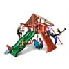 Gorilla Playsets Sun Climber Extreme Swing Set w/ Sunbrella Brannon Redwood