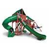 Gorilla Playsets Sun Climber Deluxe Swing Set w/ Sunbrella Canvas Forest Green