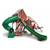 Gorilla Playsets Sun Climber Deluxe Swing Set w/ Sunbrella Brannon Redwood