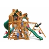 Gorilla Playsets Malibu Deluxe I Swing Set w/ Amber Posts
