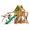 Gorilla Playsets Chateau Treehouse Swing Set w/ Amber Posts
